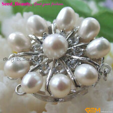 Zircon Genuine Pearl Jewelry Clasp 32mm Jewelry Making Clasp
