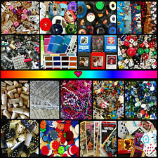 Choose Your Own, Custom Art Deco Craft Supplies, 3D Collage Mixed Media Huge Lot