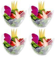 24 in plastica PIATTI OVALI - - - - alta qualità chiaro COPPA Dessert Ciotole titolari