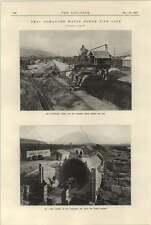 1925 Drac-romanche Waterpower Pipeline Under Construction Travelling Gantry