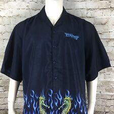 Malibu Dreams Chinese Dragon Las Vegas Embroidered Black Men's XXL Shirt