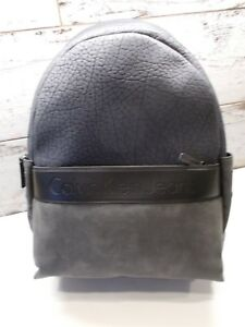 Calvin Klein Navy/Grey/Black Barrett Med Camp Everyday Backpack New With Tags