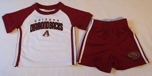 Arizona Diamondback New MLB Baseball T-Shirt  & Shorts Set Infant Boys 12 Months