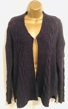 M&S Size Small Navy Chunky Knit Cardigan