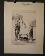 Lithografie orig. Daumier Honore. 27.3.1850. Karikatur DR Nr: 1996 Sur Blanc.