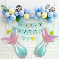 Mermaid Tail Balloon Under the Sea Party Decorations For Birthday Baby Shower