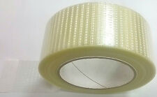 "1 HUGE QUALITY Roll Cricket Bat Repair Fibre Edge Tape 2"" 50mm 50M Self Adhesive"