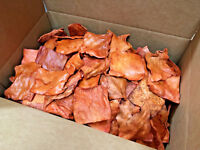 Chicken Flavored Buffalo Rawhide Chips | 7 lbs Bulk | 100% Natural Dog Chews