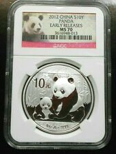 2012 SILVER CHINA PANDA ~ NGC MS69 ~ EARLY RELEASES ~ FREE SHIPPING (LSN)