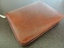 1970s Calf Leather Stationary Wallet with old pad and envelopes