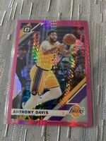 2019-20 Optic Anthony Davis #90 Hyper Pink Prizm Refractor Lakers Finals MVP 🔥