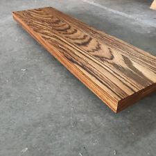 Waschbecken Tischplatte Platte - Zebrano Massiv Holz ohne Baumkante NEU Leimholz
