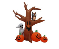 Halloween Self-Inflatable Haunted Tree Decoration with Internal Lightning