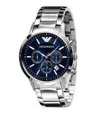 Import Emporio Armani AR2448 Classic BLUE DIAL 43MM WATCH.NEW.STEEL STRAP