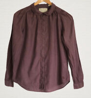 Jack Wills Ladies Blouse Size 8 Slight Puffed Shoulder Long Sleeve Indian Cotton
