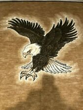 Safari Weavers Eagle Throw Blanket Acryl Velonurs Made in USA 69X57