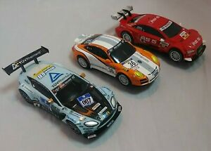 Carrera 1:43 Slot Cars Lot Of 3 - Audi, Aston Martin, Porsche