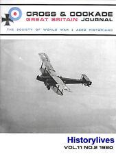 Cross & Cockade V11 N2 60 Squadron Turks Turky Handley Page Beatty Wright Hess