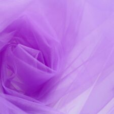 Púrpura De Boda TUL VELO Tejido 300cm Ancho - Fine Delicado Malla -