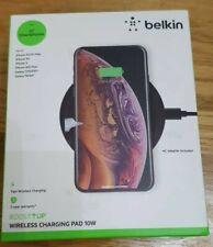 Belkin Boost Up Qi 10W Wireless FAST CHARGE Pad Galaxy S10 + iPhone X - Black UK