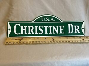 Green Street Room Sign Personalized  ~ USA  Christine DR ~ Stocking Stuffer ~