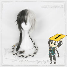 Harajuku Tender Daily Anime Cosplay Mixed Black And White Braid Gentle Men Wig