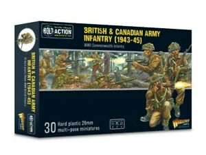 Warlord Games Bolt Action  British And Canadian infantry IN STOCK!!!!!
