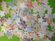 100 SMALL PAPER STAR CARD MAKING SCRAPBOOKING CRAFT EMBELLISHMENTS CLEARANCE