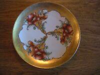 Rare Antique KPM Plate Wide gold rim Königliche Porzellan Manufaktur Signed