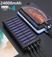 Power Bank Carica Batterie Portatile Solare 24000mAh Esterno Universale 4X USB