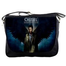 School Messenger Bag Supernatural Castiel Angel Shoulder Travel Notebook Bags