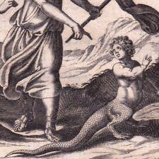 Gravure XVIIIe L'enfant Changé en Lézard  Gekkota Gecko Perséphone Proserpine