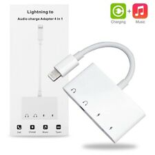 Lightning to Audio Headphone USB-C Charger Splitter For iPhone XS Max iPad 6 5
