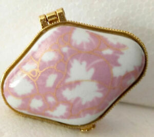 Porcelain jewelry box painted pink pictures very nice Christmas gifts