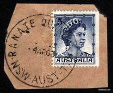 QUAKERS HILL R.A.N.A.T.E P.O. CDS Complete Postmark 5d QEII Stamps Australia