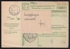Österreich Überroller-Beleg amtl. Vermerk gestorben/vermisst (6452)