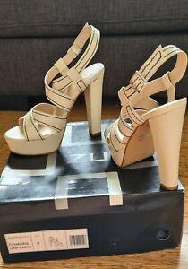 Zu Elisabetta leather Cream Platform High Heel