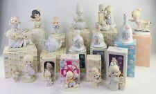 Precious Moments Lot of 17 Original Porcelain Figurines Dolls & Bells