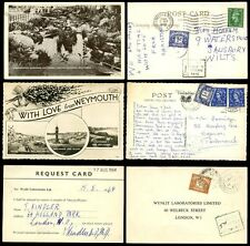 POSTAGE DUE GB 1952-64 POSTCARDS...3 ITEMS