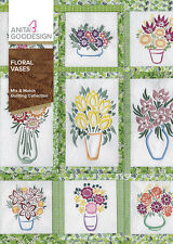 Anita Goodesign Embroidery Machine Design Cd Floral Vases