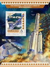 Solomon Islands 2016 MNH Shenzhou-11 Spacecraft Tiangong-2 1v S/S Space Stamps