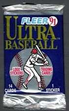 2 (two) 1991 FLEER ULTRA BASEBALL PACK