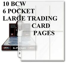 10 BCW 6 POCKET PAGES LARGE TRADING CARDS  PHOTOS ETC NEW