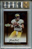 2000 Score Rookie Preview Autographs #SR41 Tom Brady Rookie Card BGS 8.5 Auto 10