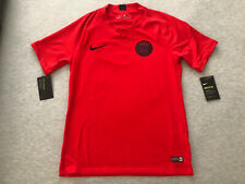 New Nike Mens Medium PSG Pre-Match Red Training Jersey M Paris St Germain Jordan