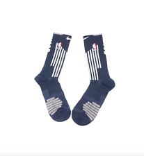New Nike Large NBA Authentics Team Issued Detroit Pistons Crew Socks Navy Blue