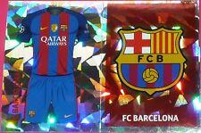 FCB1 FCB2 FC Barcelona 2016/2017 Topps Champions League Stickers