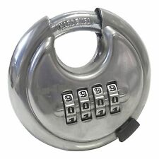 Am-tech T1146 70mm 4-Digit Combination Disc Padlock with Hardened Stainless Steel