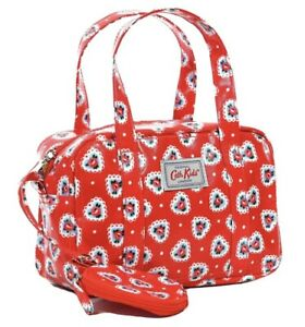 Cath Kidston Small Purse Bag  Lace Hearts  *Check Sizing* Christmas Red Mini