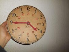 Ancienne Vintage Horloge en Carton pédagogique Scolaire marque F.N apprentissage